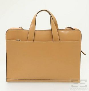 Lodis Tan Leather Briefcase Laptop Bag New