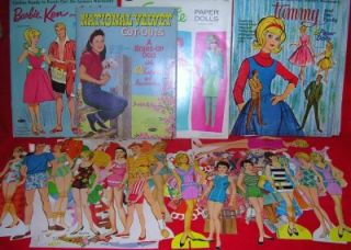 1960s Vintage Mixed Lot of Paper Dolls Cut Outs 17 Dolls Clothes