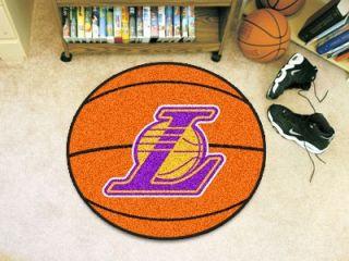 Los Angeles Lakers 29 inch Basketball Shape Floor Rug