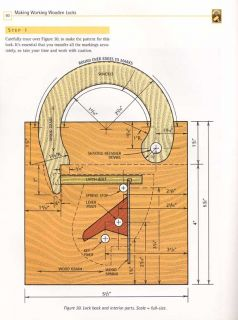 Make Working Wooden Lock Plan Wood Craft DIY Band Saw