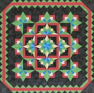Southwest Nites Pieced Dereck Lockwood Quilt Pattern