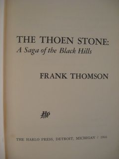 66 Thoen Stone Gold Rush Black Hills Lost Party Signed