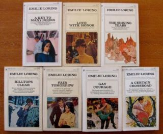 Lot of 25 Emilie Loring Bantam Romance Paperbacks Shining Years Across
