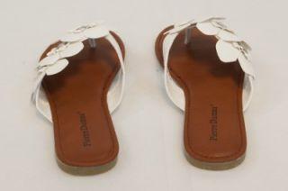 New Pierre Dumas Womens White Flower Design Lorna 1 Sandals