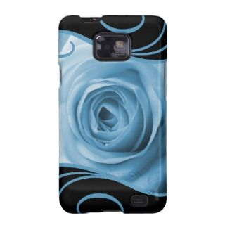 Blue Rose & Swirls Galaxy SII Covers