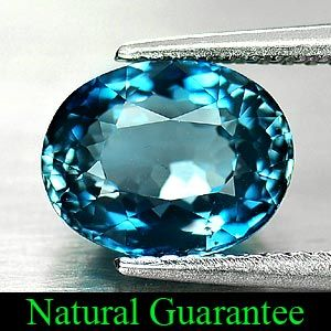 02 Ct Good Oval Shape Natural London Blue Topaz Gemstone