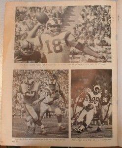 1965 Los Angeles Rams San Francisco 49ers Program Olsen