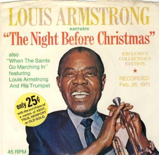 45rpm Louis Armstrong The Night Before Christmas When The Saints