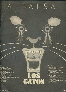 Los Gatos La Balsa LP Argentina Classic Rock