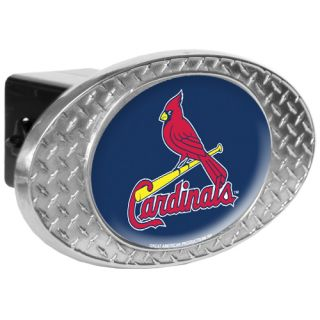 Louis Cardinals Diamond Plate Metal Trailer Hitch Cover   2 Class III