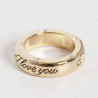 Love You Engraved Ring Eternity Band Size 6 Gold Plated Other Sizes