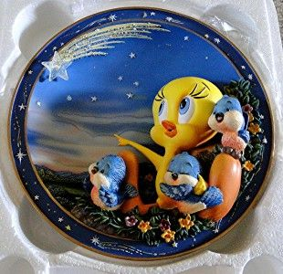 Looney Tunes Tweetie Bird Wishes Oh So Tweet Plate