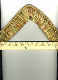 Loop Brush Fringe Decorative Trim Green Coral Red Gold