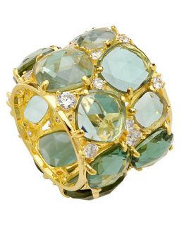 Sterling Silver Green Cubic Zirconia Candy Couture Ring (40 ct. t.w