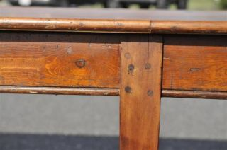French Farm Table Antique 13 Foot Long Pine Circa 1900