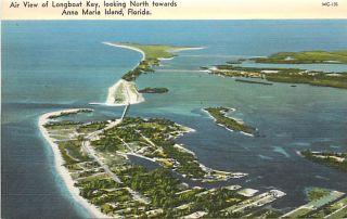 FL Anna Maria Island Longboat Key Aerial View K42795