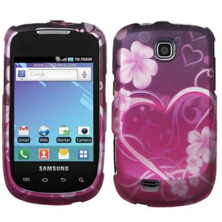 Purple Love Hard Snap On Cover Case Protector for Samsung Dart T499 T