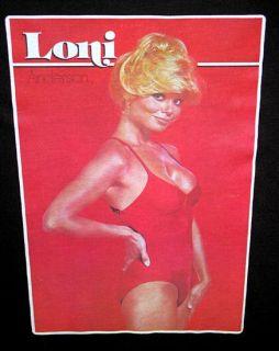 Vtg 70s Loni Anderson WKRP Burt Reynolds TV Show Farrah Fawcett
