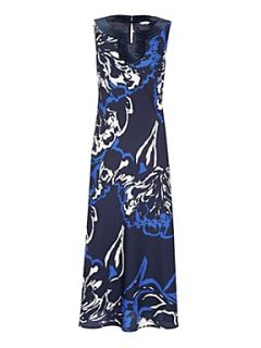 Windsmoor Shadow floral print long dress Ivory