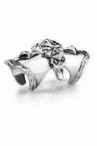 Low Luv by Erin Wasson Armor Knuckle Silver Ring