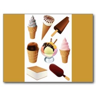 png_2299 Cartoon Ice Cream Sundae With A Cherry Post Card