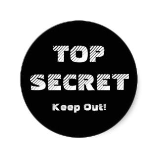 Top Secret Confidential Labels Round Stickers