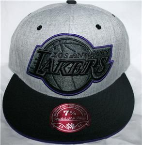 Mitchell Ness Los Angeles La Lakers Fitted Cap Wool
