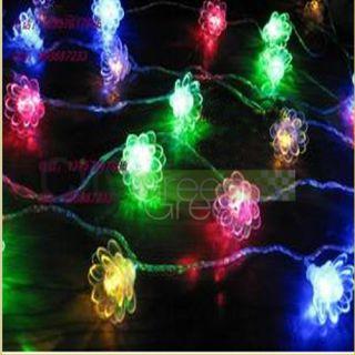 Three Layer Lotus Flower String LED Light Lamp Festival Decor