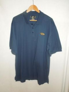 Mens Loudmouth Navy Blue Short Sleeve Polo Golf Shirt Size 2XL