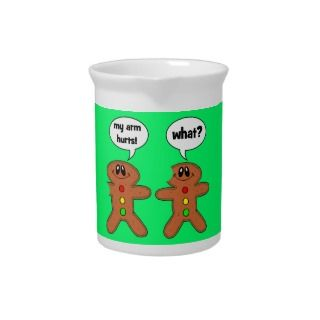 gingerbread man drink pitcher