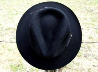 Indiana Jones Harrison Ford Lucas Films Black FUR Movie Fedora Hat L