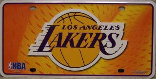 NBA Aluminum License Plate Los Angeles Lakers New