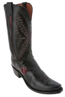 Lucchese Black Texas A M Womens Cowboy Boots Made in USA