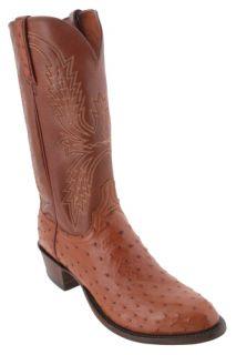 Lucchese Cognac FQ Ostrich T6088.R4 Cowboy Boots Mens 10.5 EE
