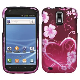 Purple Love Hard Case Cover for T Mobile Samsung Galaxy S 2 II T989