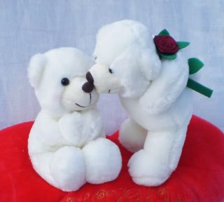 Lovely red heart pillow Hold Lover rose KISS bear 30 CM Lover GIFT