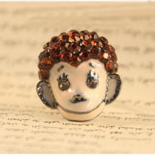 One Unique Lovely Humrous Rhinestone Monkey Animal Ring