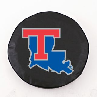 Louisiana Tech Bulldogs NCAA Exact Fit Black Vinyl Spare Tire Cover by