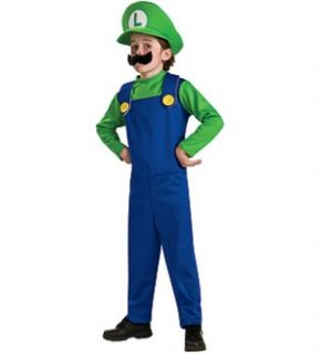 Super Mario Bros Luigi Child Large Brand New