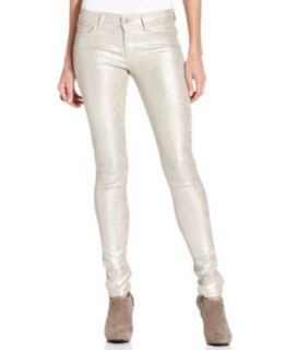 Else Jeans Skinny Jeans, Metallic Python Print Coated Denim