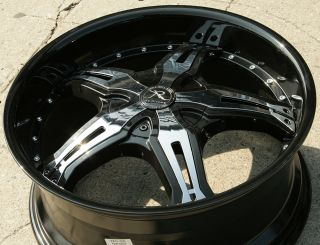 Karizzma Lucian KR09 20 Black Rims Wheels Audi Q5 20 x 8 5 5H 38