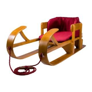 Lucky Bums Kids Heirloom Collection Wooden Baby Boggan Sled Natural
