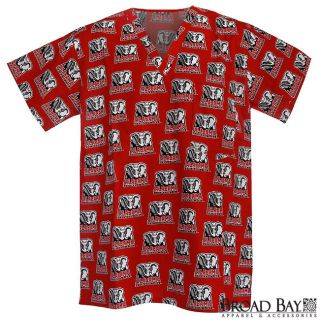 University of Alabama Logo Scrubs Scrub Top Shirt LG Official Alabama
