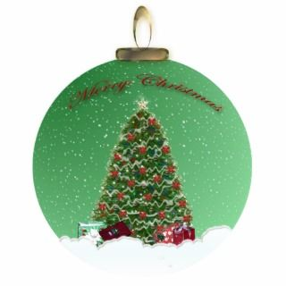 Christmas Tree Snow Globe Ornament Photo Sculptures