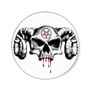 Devil Half Skull Stickers