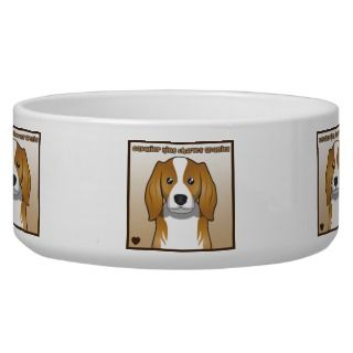 Cavalier King Charles Spaniel Cartoon Dog Food Bowl