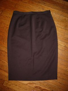 New $320 Lyell Mayle Bark Chocolate Brown Wool Silk Siren Pencil Dress