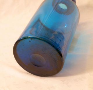 Beautiful Timeworn Blue Glass Apothecary Chemists Bottle Extr