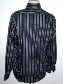 New Hugo Boss Black Label Slim Fit Stripe Dress Casual Cotton Shirt S