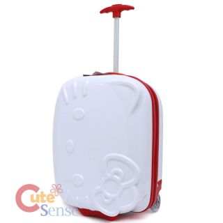 Hello Kitty Rolling Luggage ASB Trolley Bag Hard Suit Case White Face